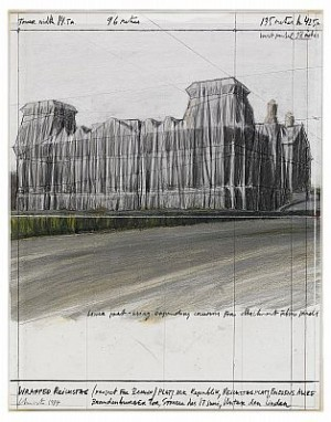 Wrapped Reichstag Berlin by Christo JAVACHEFF