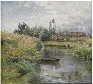 Landskap Med Vattendrag by Charlotte WAHLSTRÖM