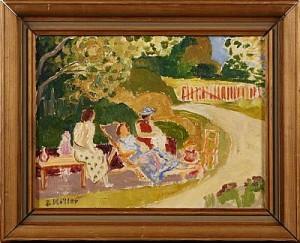 Kvinnor I Trädgård by Sigurd MÖLLER