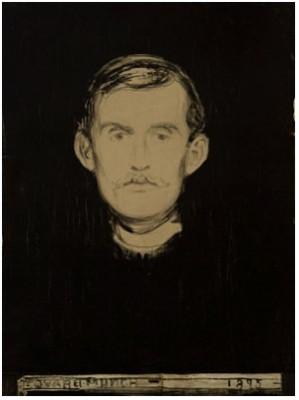 Selvportrett ıı by Edvard MUNCH