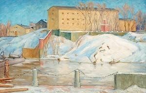 Stockholmsbatteriet, Vinter by Prins EUGEN
