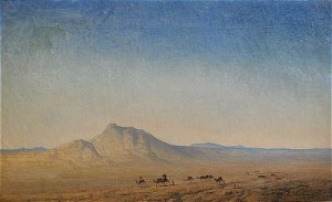 ökenlandskap Med Kamelkaravan by Henrik ANKARCRONA