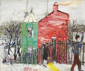 """""""kälkbacken"""" - Motiv Från Hagalund by Olle OLSSON HAGALUND"""