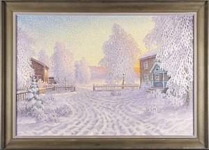 Vinterlandskap by Oscar LYCKE