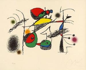 Raymond Queneau by Joan MIRO