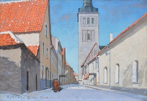 Town View, Tallinn, (reval) by Andrei Afanasievich YEGOROV