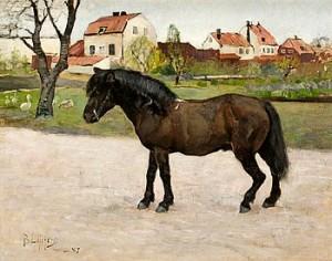Svart Häst by Bruno LILJEFORS