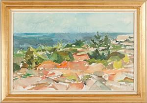 Kustlandskap by Sven Olof ROSÉN