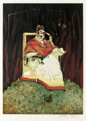 Study For Portrait Of Pope Innocent X by Francis BACON