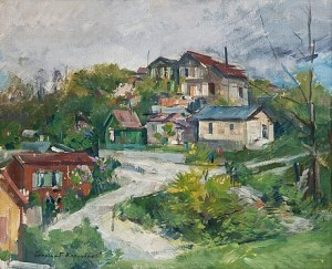 View Of The Village by Konstantin Alexeievich KOROVIN