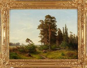 Landskap Med Mansfigur by Axel Wilhelm NORDGREN