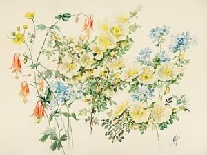 Sommarblomster by Olga Grand Duchess ALEXANDROVNA