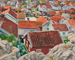View Over The Village Roofs by Marcus COLLIN