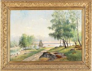 Landskap Med Segelbåt by Julia STRÖMBERG