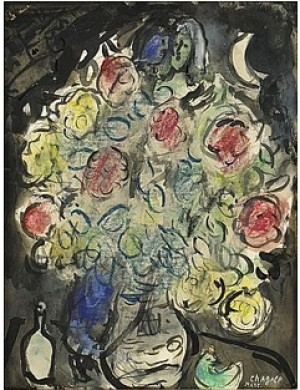 Bouquet à La Lune by Marc CHAGALL