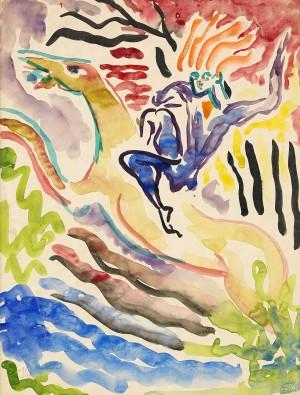 Den Flygande Hästen by Isaac GRÜNEWALD