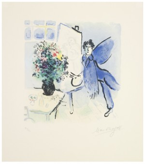 L'atelier Bleu by Marc CHAGALL