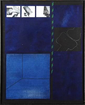 Blå Målning by Nils KÖLARE
