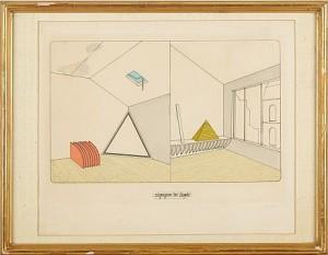 Komposition Med Pyramid by Lucio Del PEZZO