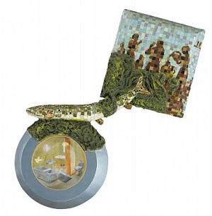 Brunnen Och Gäddan. Mosaik Och Akryl by Ernst BILLGREN