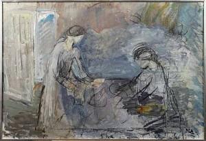 Två Flickor Ii by Maj ARNELL