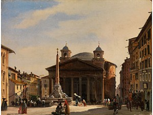 Das Pantheon In Rom by Cavaliere Ippolito CAFFI
