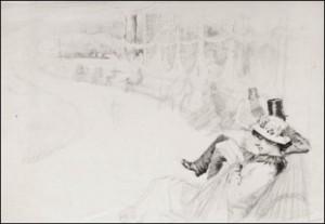 Skiss Till Verket, I Luxembourg- Trädgården I Paris by Albert EDELFELT
