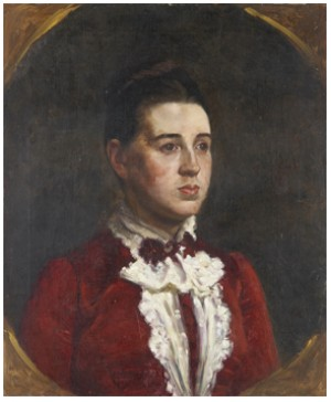 Porträtt Föreställande Hanna Hirsch by Eva BONNIER
