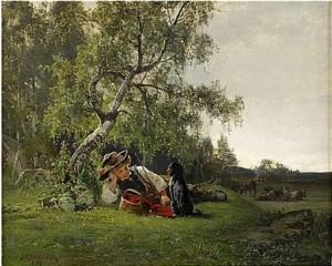 Herdegosse by Julius KRONBERG