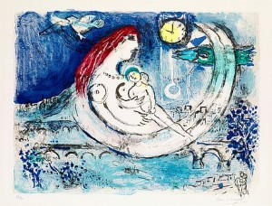 Paysage Bleu by Marc CHAGALL