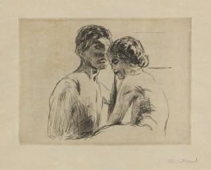 Zwei Menschen by Edvard MUNCH
