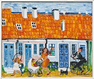 Motiv Från Stora Norregatan I Simrishamn by Gunilla MANN