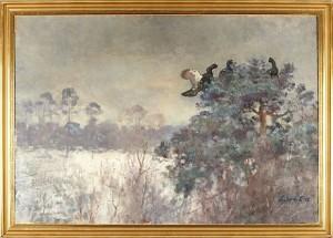 Orrar I Vinterlandskap by Lindorm LILJEFORS