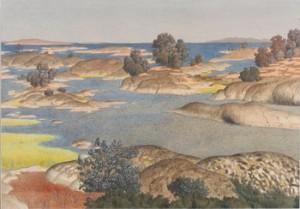 Skärgårdsmotiv by Oskar BERGMAN