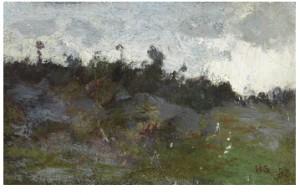 Landskapstudie by Helene SCHJERFBECK