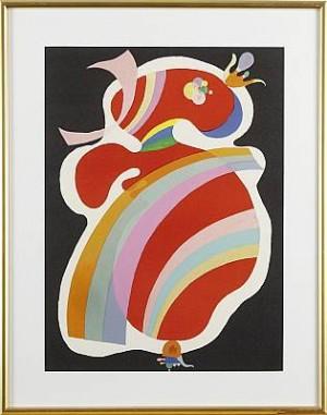 La Form Rouge, Litografi Efter Komposition Från 1938 by Wassily KANDINSKY