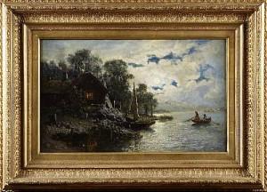 Insjölandskap Med Båt by Jakob SILVÉN