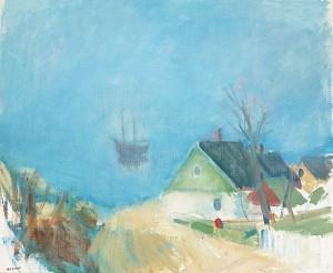 Skepp I Morgonljus by Gustav RUDBERG