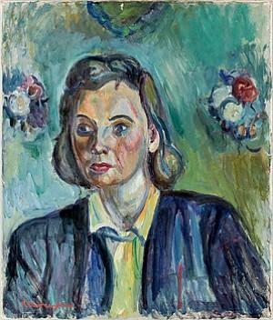 Kvinnoporträtt by Pinchus KREMEGNE
