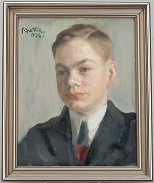 Porträtt Av Carl-erik Björnberg, Kotka by Georges Von SWETLIK
