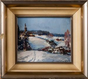 Vinterlandskap by Einari UUSIKYLÄ