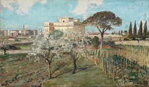 Trädgårdslandskap Från Rom by Carl SKÅNBERG