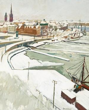Slussen I Snö by Axel NILSSON