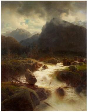 Brusande Fors I Bergslandskap by Marcus LARSON