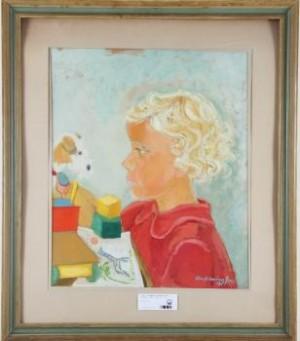 Barnporträtt by Eva HOLMBERG JACOBSSON
