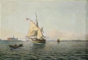 Dansk Segelskuta by Christian Fredrik SWENSSON