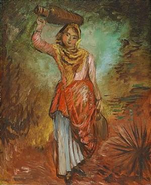 Kvinna Med Krus by Sigrid HJERTÉN