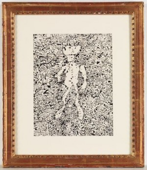 Personage Dans Un Passage by Jean DUBUFFET