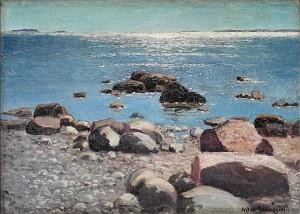Glittrande Böljor. Motiv Från Sandhamn by Artur BIANCHINI