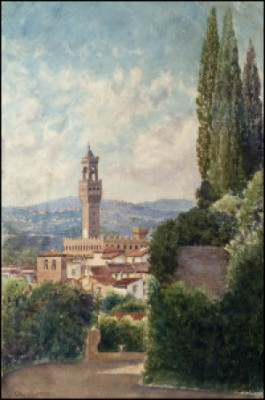 View Over Florence by Gavril Pavlovich KONDRATENKO